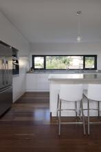 White Kitchen With Island Bench