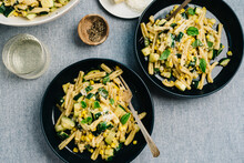 Zucchini And Corn Pasta