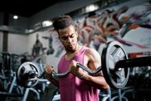 Muscular Man Working So Hard O...