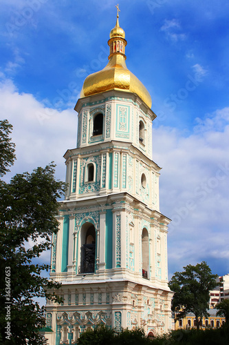 Fotografie, Obraz View of Saint Sophia Cathedral Bell tower in Kiev, Ukraine