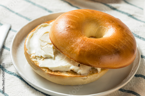 Homemade Cream Cheese Bagel