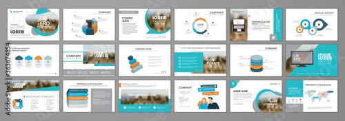 Business presentation slides templates Canvas Print