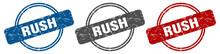 Rush Stamp. Rush Sign. Rush La...