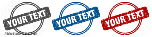 Valokuva your text stamp. your text sign. your text label set