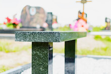 Granite Bench On The Grave