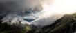 Leinwandbild Motiv Scenic View Of Mountains Against Sky