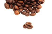 Coffee Beans Isolated On A Whi...