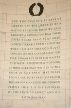 A Quote From Thomas Jefferson On The Wall Of His Memorial Near The Capitol Mall In Washington DC.