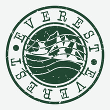 Everest Mountain Stamp. Himala...