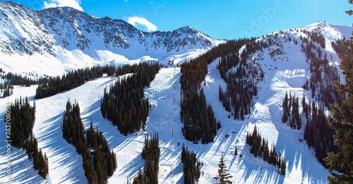 Valokuva Colorado Ski Slopes on a Bright Sunny Day