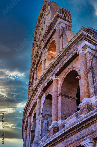 Broken Arches of Coloseum Canvas Print