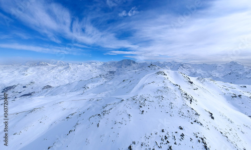 Fototapety, obrazy: Scenic View Of Snowcapped Mountains Against Blue Sky