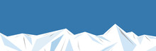 Illustration Of An Ice Mountai...