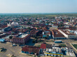 Aerial photo of the city center of Tlacotalpan Veracruz in Mexico