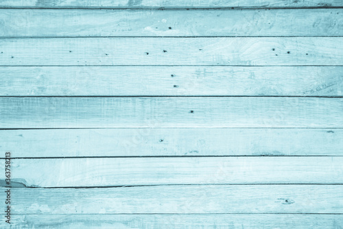 Fototapeta Old grunge wood plank texture background. Vintage blue wooden board wall have antique cracking style background objects for furniture design. Painted weathered peeling table woodworking hardwoods. obraz