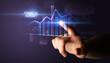 Leinwanddruck Bild - Hand touching FINANCIAL REPORT button, business concept