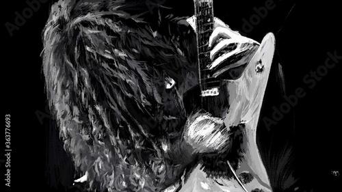 Fototapeta guitarist 1 : Beautiful Art Printing