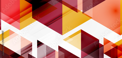 Geometric abstract background, mosaic triangle and hexagon shapes Canvas Print