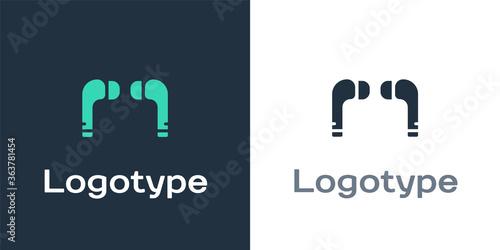 Carta da parati Logotype Air headphones icon icon isolated on white background