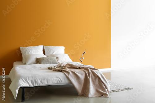 Fototapeta Interior of modern stylish bedroom obraz