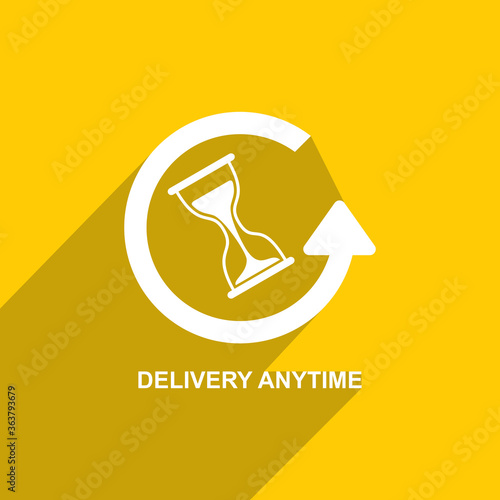 Photo Delivery icon anytime, Business icon vector