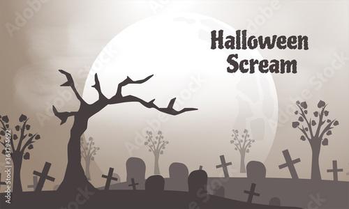 Fotomural scare halloween background design illustration