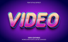 Editable Text Effect, Video Te...