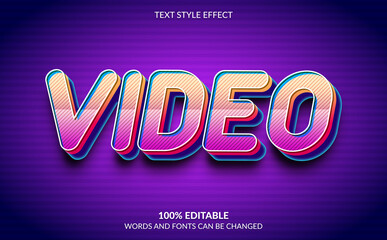 Editable Text Effect, Video Text Style