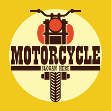 Motorcycle Logo Emblems And In...
