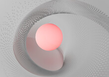 Abstract Futuristic Web With G...