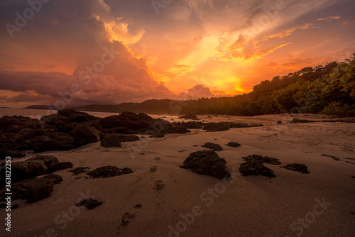 Fototapety, obrazy: Scenic View Of Beach Against Sky During Sunset