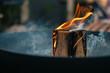 Leinwandbild Motiv Close-up Of Burning Swedish Tree Torch