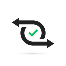 Simple Cash Flow Icon Or Easy Transfer