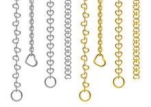 Silver And Gold Metal Chains I...