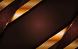 Luxury brown background with golden lines combination.