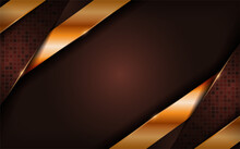 Luxury Brown Background With G...