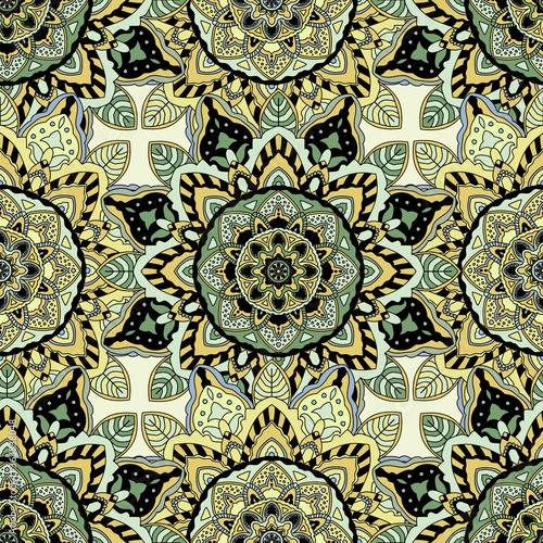 Tapety Orientalne  mandale-ozdobna-zolta-ilustracja-wzor
