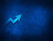 Business graph icon artistic abstract blue grunge texture background