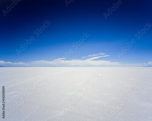 Fotografiet Scenic View Of Desert Against Blue Sky