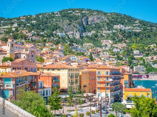 Photo Vue sur le village de Villefranche sur la cote d'azur, en Provence