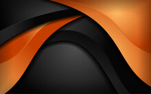 Abstract Dynamic Orange And Bl...
