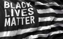 Black Lives Matter Flag Blowin...