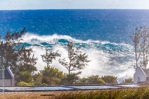Fotografía Vague géante à la Pointe au Sel, Saint-Leu, île de la Réunion