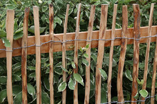 Wooden Fence Made Of Planed Tw...
