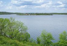 Landscape On Green Shore In Ma...