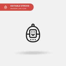 Tamagotchi Simple Vector Icon. Illustration Symbol Design Template For Web Mobile UI Element. Perfect Color Modern Pictogram On Editable Stroke. Tamagotchi Icons For Your Business Project