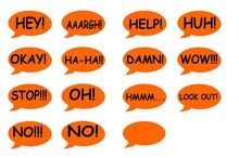 Speech Bubbles With Texts, Cal...