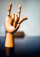 Close-up Of Hand Sculpture