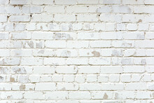 White Painted Brick Wall With ...