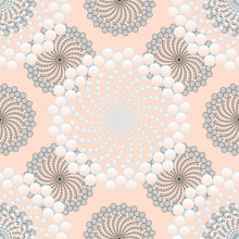 Abstract Bubbles Flowers Seamless Patterns Silver Light Pink